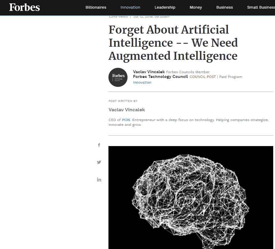 Forbes. We need augmented intelligence, not AI